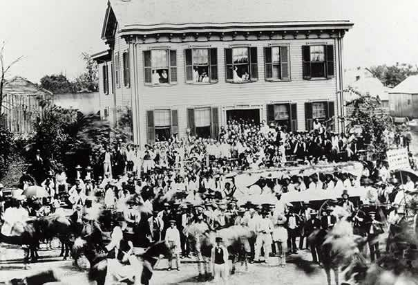 Lincoln house in Springfield during the 1860 campaign