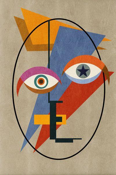 Bowie Bauhaus, David Bowie, Abstract Deconstructed Pop – Czar Catstick | Big Fat Arts | BFA Gallery
