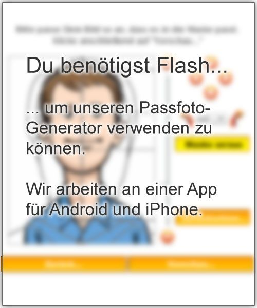 You need Adobe Flash to use our Passport Photo Generator.