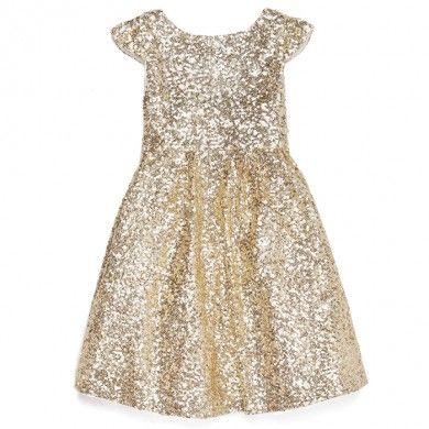 Gold flower girl dress! Just like the bridesmaids dresses