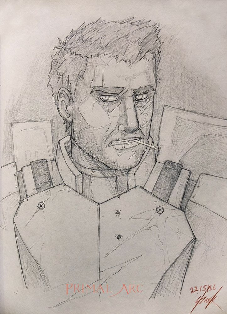 'You Lookin' at me, Kid?', pencil. #swtor #star wars