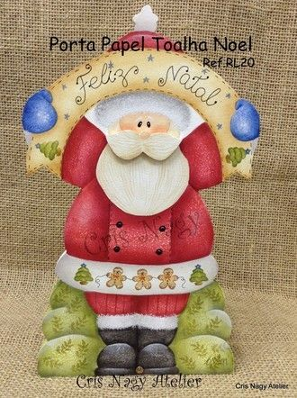 Porta Papel Toalha Noel