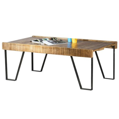 Deon Industrial Style Pattern Metal Rectangle Coffee Table: 25+ Best Ideas About Industrial Coffee Tables On Pinterest