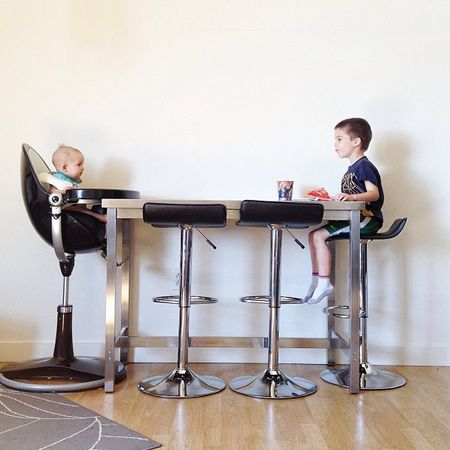 Bloom Fresco Chrome In Black Tallest High Chair
