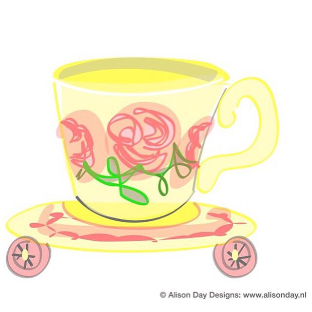 Morning teacup by Alison Day