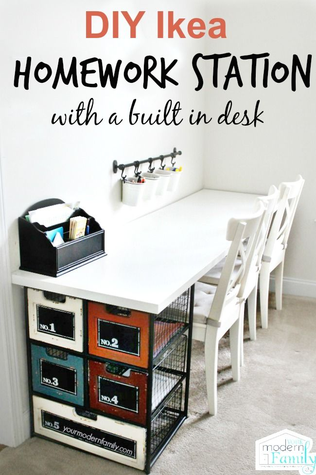 DIY idea homework station
