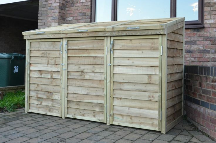1000 Images About Garbage Can Shed On Pinterest: The 25+ Best Triple Wheelie Bin Storage Ideas On Pinterest
