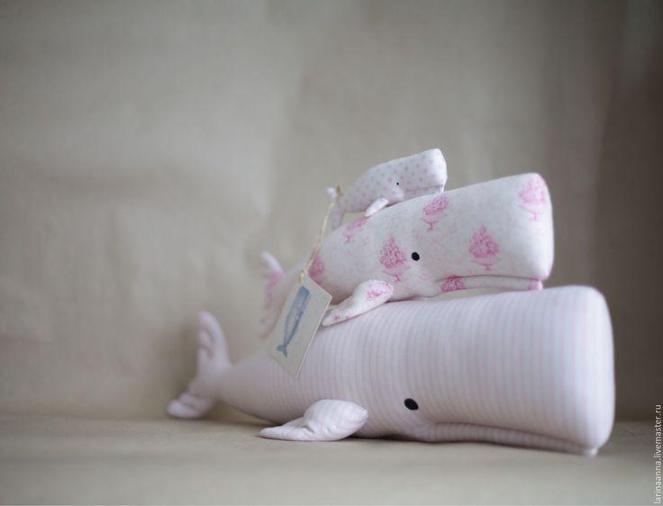 Купить Кашалоты. Опрокинуться в розовость вод... - тильда, кашалот, кит, семья, розовый, океан, вода