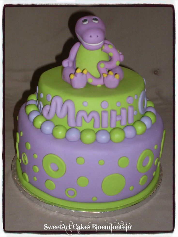 BARNEY CAKE BAPTISM CAKE We supply cakes, cupcakes & fondant cake & cupcake toppers. For more information email sweetartbfn@gmail.com or call 0712127786. Follow us on Facebook https://www.facebook.com/sweetart.bloemfontein or  visit our website at http://sweetartbfn.wix.com/home