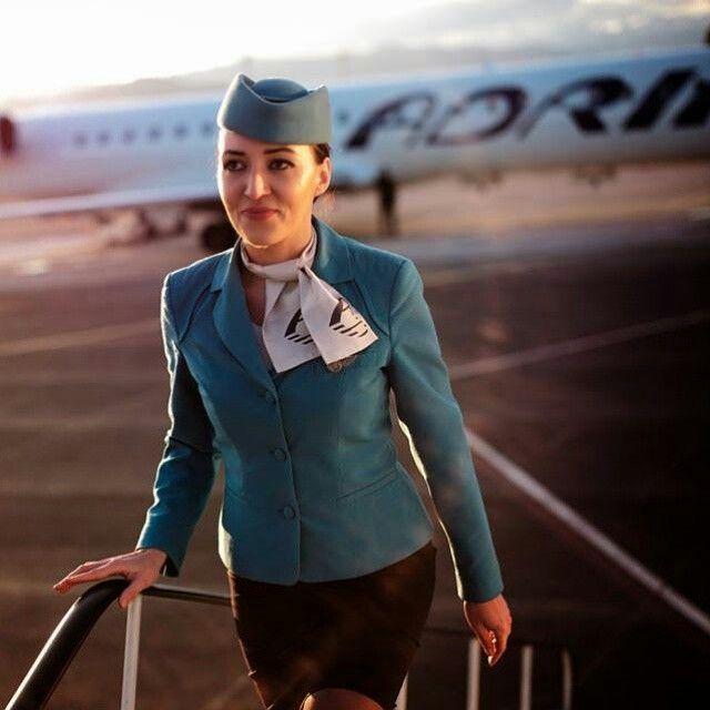 Adria Airways Stewardess @exyuaviation