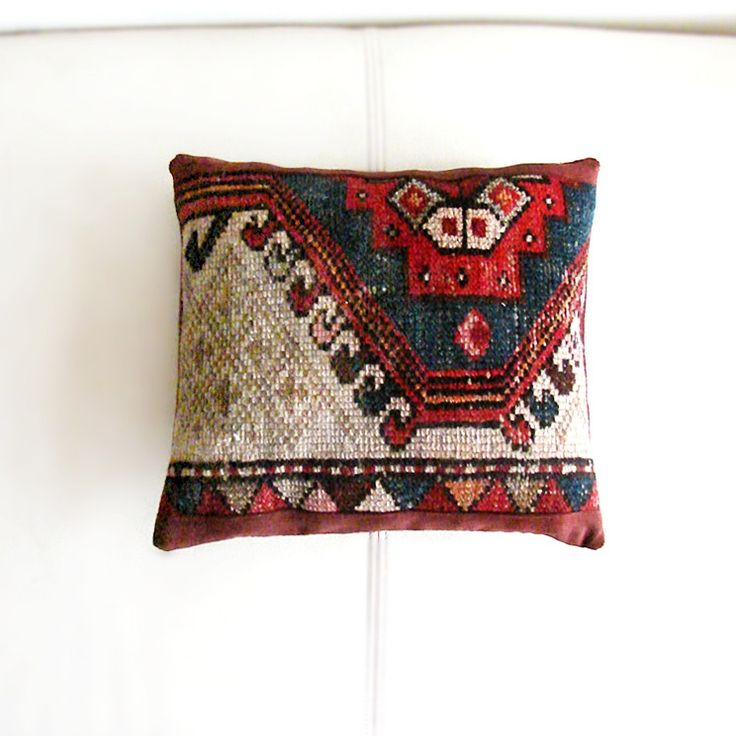 Cushion Covers – Mini Kilim Pillow, Antique Seat Cushion – a unique product by RitzySelection on DaWanda