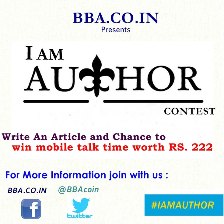 i am author contest