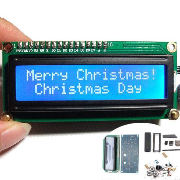 Mini 1602 Calendar LCD Clock Fantasy DIY Electronic Kit