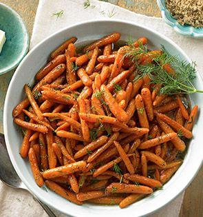Check out this delicious recipe for Bourbon-Glazed Dill Carrots from 25 Merry Days at Fry's!