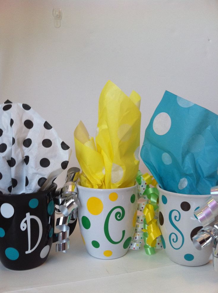 Personalized Coffee Cup Polka dot by Mycutietootie on Etsy, $11.99