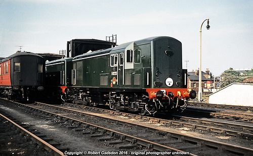 New BTH Type 1s at Ipswich shed in April 1960, with D8223 nearest the camera.. This loco spent all its working life on the GE Section, and was withdrawn from Stratford in May 1968, and scrapped in June 1969.