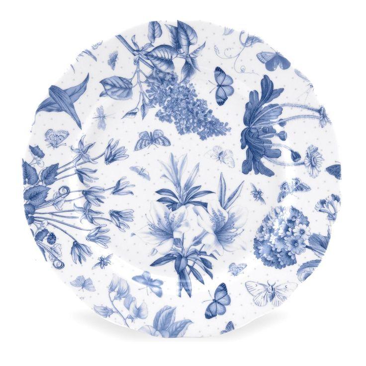 Portmeirion Botanic Blue 8.5 inch Side Plate set of 4