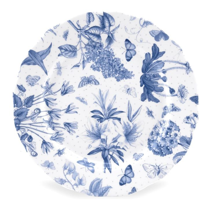 Portmeirion Botanic Blue 8.5 inch Side Plate set of 4