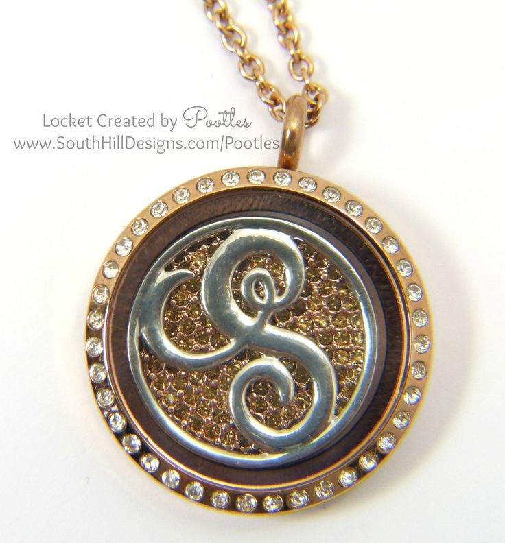 South Hill Designs by Pootles - Mixed Metal Monogram Close Up