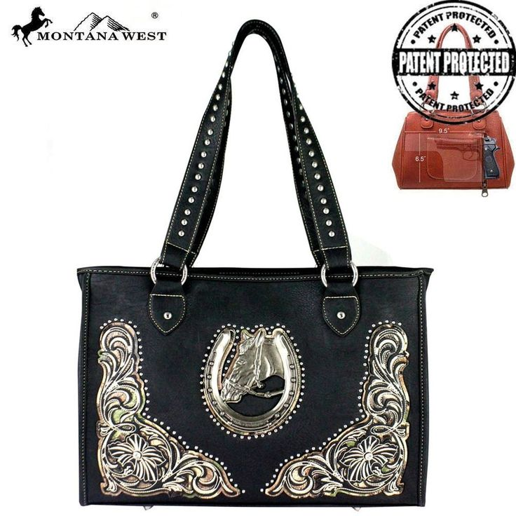 Gypsy Cowgirl Chic Montana West Dual Sided Concealed Handgun Tote Bag Purse Wow #MontanaWest #ShoulderBag