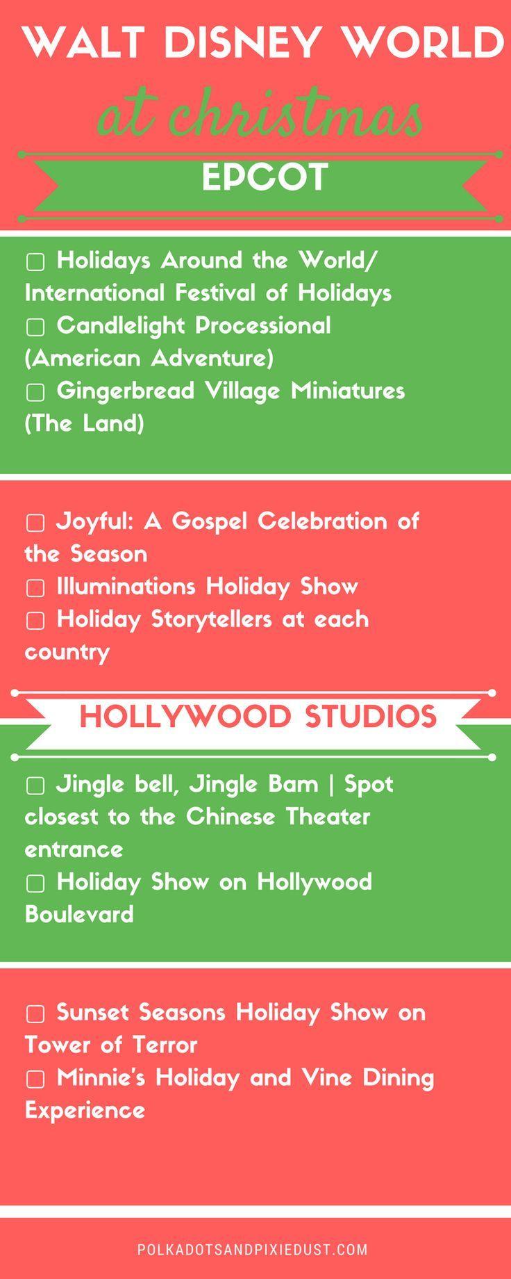 Christmas At Walt Disney World Checklist Disney World Christmas Disney World Walt Disney World