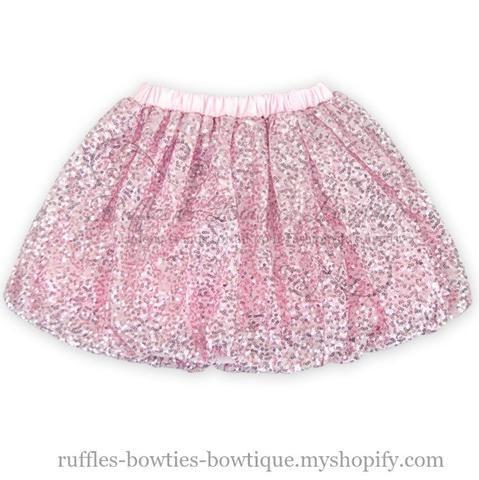 Glitz n Glam Babe Pink Sequin Skirt