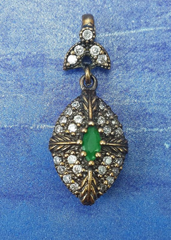 RICH Turkish Topaz Emerald 925K Sterling by REPUBLICOFSILVER