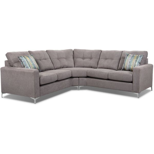 london 2piece linenlook fabric sectional dove liked on