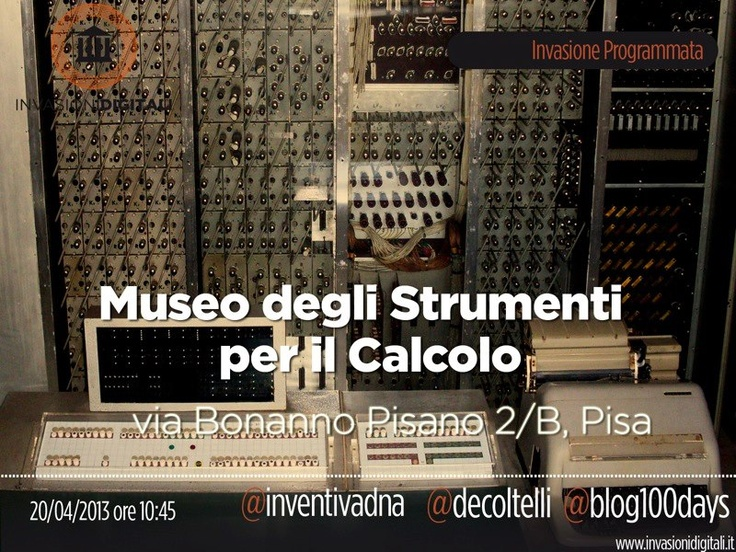 #InvasioniDigitali il 20 aprile alle ore 10.45 Invasori: Inventiva DNA e De Coltelli e Blog100days: http://blog.100days.it/invasioni-digitali-pisa/