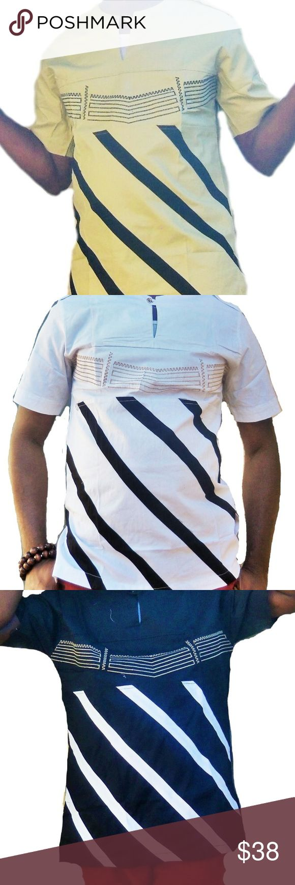 Dashiki African Clothing This is a classic Men's short Sleeve African Traditional clothing finely and neatly sewn and it's made with high quality fabric. It has a perfect finish and it is ideal for any special occasion be it wedding ceremony, church service, party, outdooring etc.This costume can also be a perfect gift option to a love one. African Clothing Men Shirts Casual Button Down Shirts