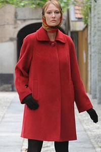 Пальто осеннее для полных дам