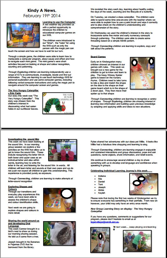 Another program newsletter example