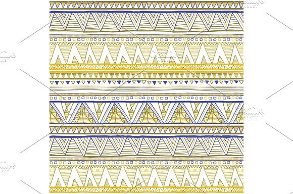 pattern Ethnic seamless vector  by Rommeo79 on @creativemarket