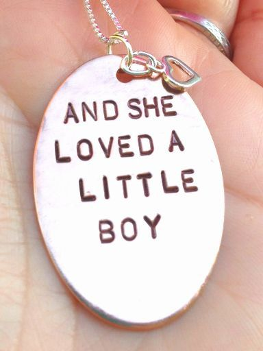and she loved a little boy, shell silverstein, quote, love necklace, mother son, grandma, book quote necklace, personalized necklace on Etsy, $43.00