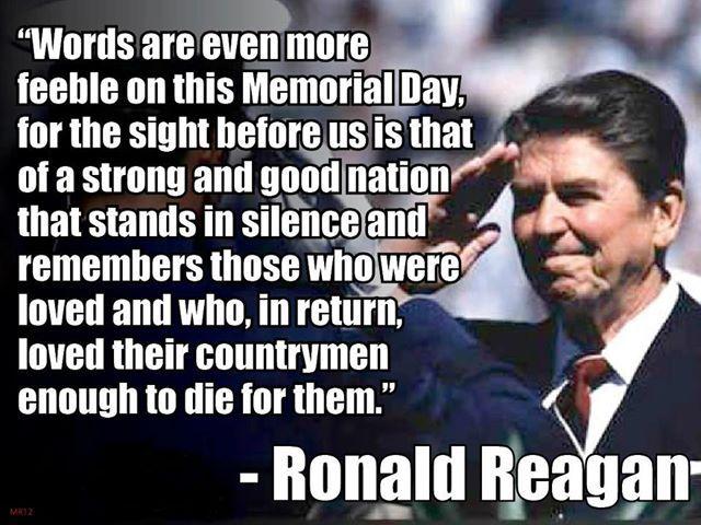 president reagan memorial day video