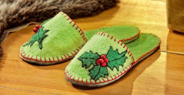 bastelanleitung festtags filz pantoffeln weihnachten pinterest deko und basteln. Black Bedroom Furniture Sets. Home Design Ideas