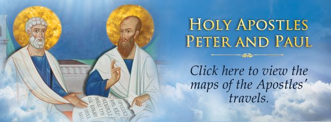 The Holy Apostles Peter and Paul: Maps of the Apostles' travels. - Blog of St Elisabeth Convent - July 2016 - #orthodoxy #faith #apostles #blog #saint #Paul #Peter