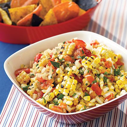 Roasted Corn Salsa Recipe-from a weight watchers recipe web site-healthy!Fun Recipe, Yummy Food, Roasted Corn Salsa, Salsa Recipe, Weights Watchers Recipe, Appetizers, Healthy Food, Dips, Dinner Tonight