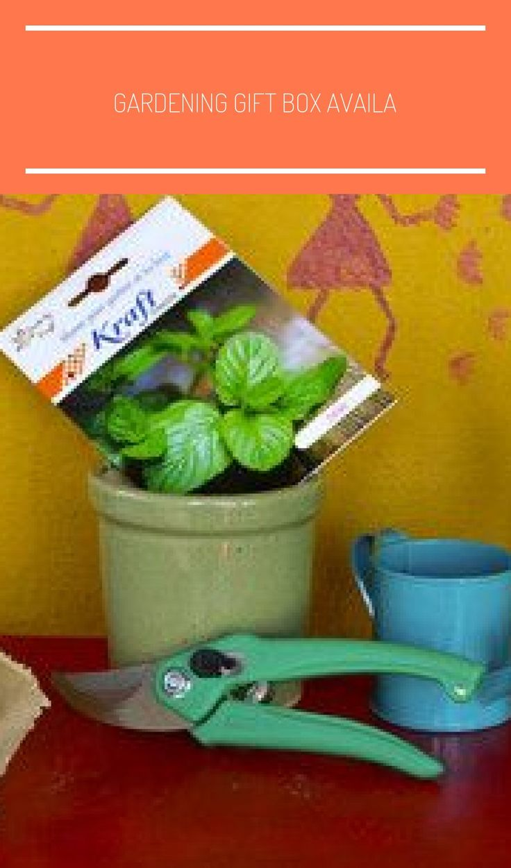 Gardening gift box available at
