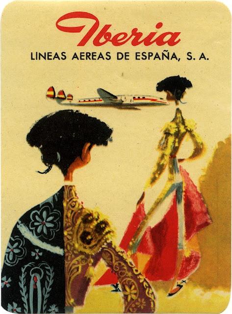 Publicidad vintage Iberia. Lineas aéreas españolas Spain, 1940