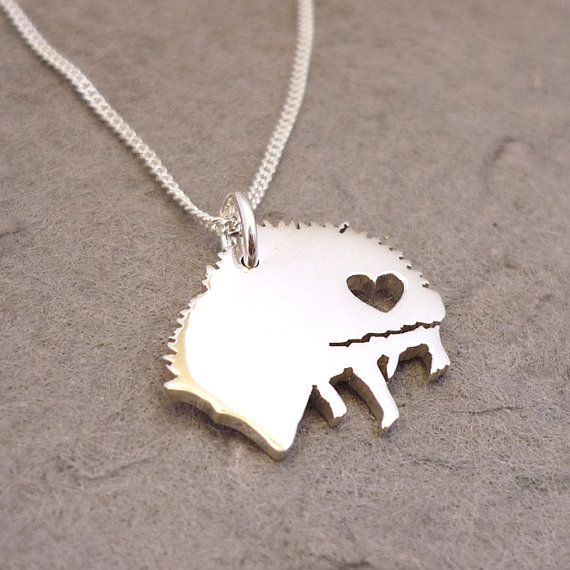 Cute African Hedgehog Sterling Silver Handmade by starbrightgirl