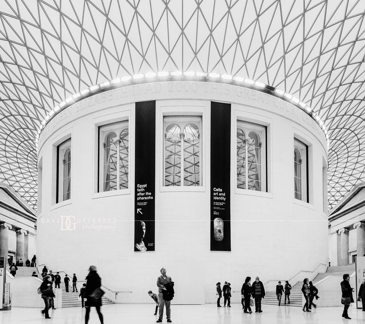"""Enclosed"" British Museum, London, UK. Image by David Gutierrez Photography, London Photographer. London photographer specialising in architectural, real estate, property and interior photography. http://www.davidgutierrez.co.uk #realestate #property #commercial #architecture #London #Photography #Photographer #Art #UK #City #Urban #Beautiful #Interior #Arts #Cityscape #Travel #Building #BlackAndWhitePhotography #Interiors #Indoor #BlackAndWhite #BritishMuseum"