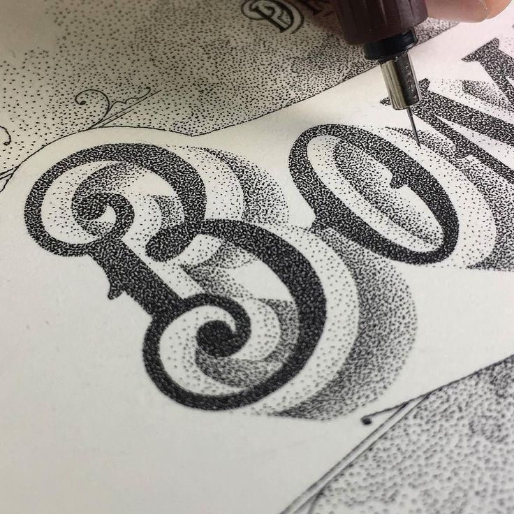 Incredible stippled lettering by @casaltaxavier - #typegang - typegang.com http://typg.co/2fjWj7F | http://typegang.com