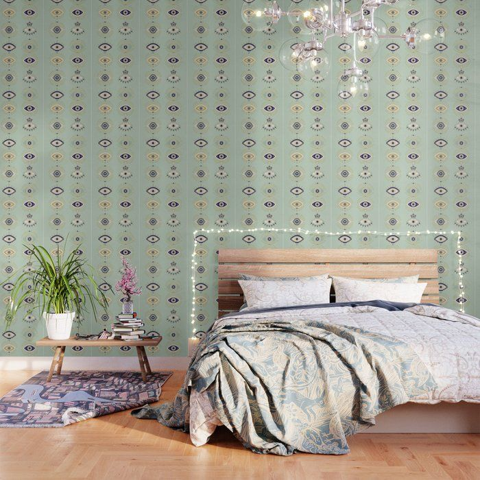 Buy Evil Eye Collection Wallpaper By Catcoq Worldwide Shipping Available At Society6 Com Just One Of Black And White Wallpaper Soft Wallpaper White Wallpaper