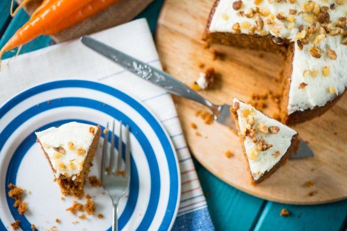 Морковный торт: постный рецепт без выпечки
