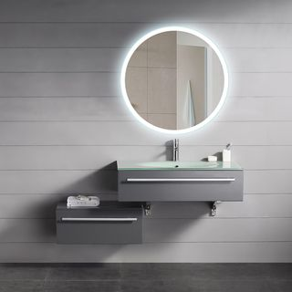 Shop for Backlit Round Mirror (24x24). Get free shipping at Overstock.com - Your Online Home Decor Outlet Store! Get 5% in rewards with Club O!