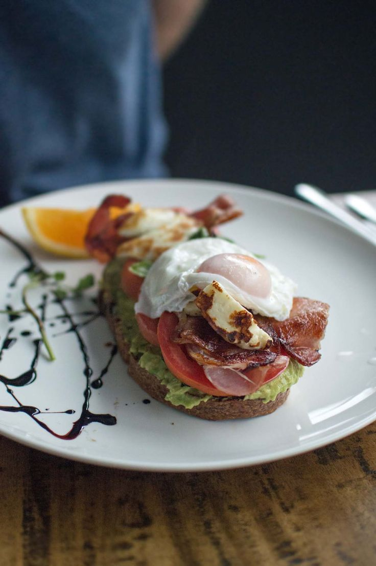 Smashed avocado, tomato, bacon, feta & fried egg at End of King - Newtown | heneedsfood.com