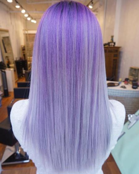 Straight Purple Blonde Hair