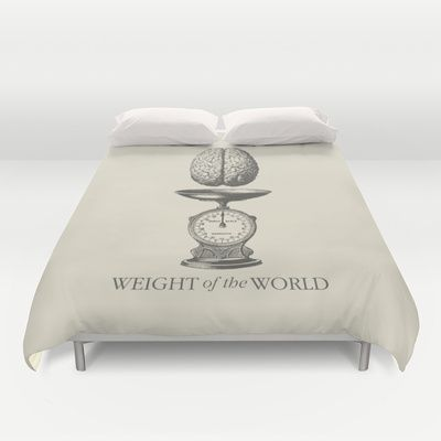 Weight of the World Duvet Cover by Nameless Shame - $99.00