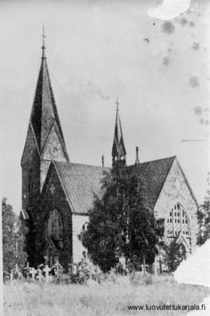 Kuolemajärvi #Lutheran Church. Built in 1903, destroyed in 1939. Kuolemajärvi was ceded to #Russia at the end of #WWII